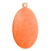 "Copper Shape - Oval Pendant - 5/8"" x 1-1/8"""
