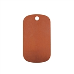 Copper Shape - Dog Tag 24 gauge Pkg - 10