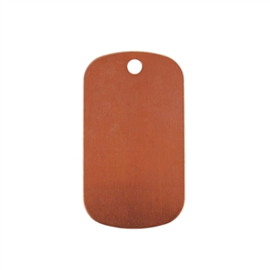 Copper Shape - Dog Tag 24 gauge