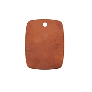 Copper Shape - Rectangle Pendant 24 gauge Pkg - 10