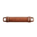Antique Copper Plate Shape - Banded Rectangle Connector - 24mm x 7mm