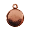 Copper Plate Shape - Round Pendant - 10mm