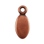 Antique Copper Plate Shape - Oval Pendant - 5mm x 8.5mm