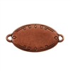 Antique Copper Plate Shape - Oval Connector - 28.5mm x 17.5mm