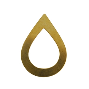 Brass Blank - Large Drop - 34 x 47mm