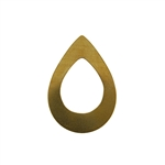 Brass Blank - Drop - 24 x 34.5mm
