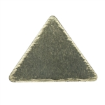 Brass Blank - Small Triangle - 9.5mm x 10.5mm Pkg - 10