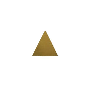 Brass Blank - Large Triangle - 18mm x 18.5mm Pkg - 10