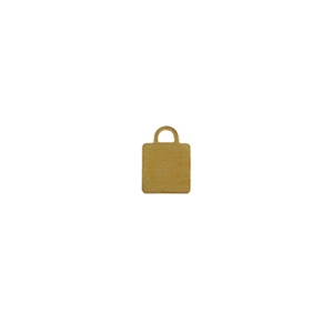 Brass Blank - Square Pendant - 8mm x 11mm Pkg - 10