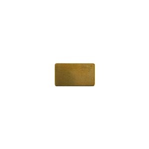 Brass Blank - Rectangle - 9mm x 15mm Pkg - 10