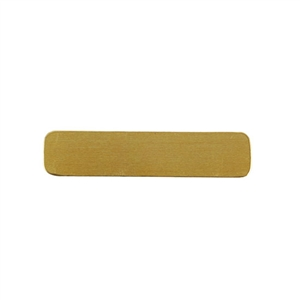Brass Blank - Rectangle - 9.5mm x 45mm Pkg - 10