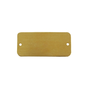 Brass Blank - Rectangle with Holes- 20mm x 44mm Pkg - 6
