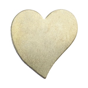 Brass Blank - Heart - 16mm x 16.5mm Pkg - 10