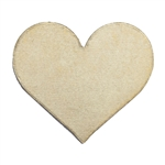 Brass Blank - Heart - 17mm x 19.5mm Pkg - 10