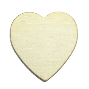 Brass Blank - Heart - 17.5mm x 18mm Pkg - 10