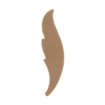 "Copper Shape - Feather - 1""  Pkg - 6"