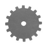 "Nickel Silver Blank - Solid Gear - 3/4"" Pkg - 6"