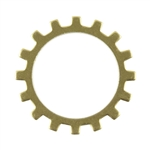 "Brass Blank - Gear Open - 3/4"" Pkg - 6"