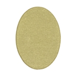 Brass Blank - Oval - 18mm x 13mm Pkg - 6
