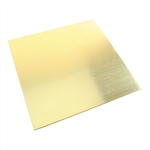 Metal Sheet - Red Brass - Square 6""