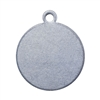 Nickel Shape - Circle Pendant - 1/2""