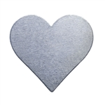 "Nickel Shape - Heart - 3/4"" Pkg - 6"