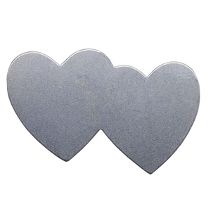 Nickel Shape - Double Heart - 1-7/16""