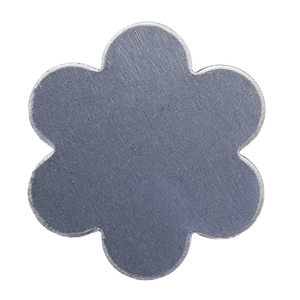 "Nickel Shape - Flower - 1"" Pkg - 4"