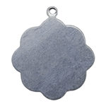 "Nickel Shape - Flower Pendant - 3/4"" Pkg - 6"