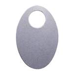 "Nickel Shape - Oval Pendant - 1-1/4"" Pkg - 4"