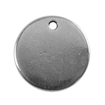 Antique Silver Plate Shape - Round Pendant - 13mm