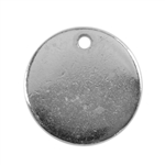 Silver Plate Shape - Round Pendant - 13mm