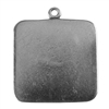 Antique Silver Plate Shape - Sqaure Pendant - 25mm