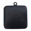 Gunmetal Plate Shape - Square Pendant - 25mm