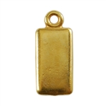 Gold Plate Shape - Rectangle Pendant - 6mm x 11mm