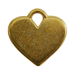 Gold Plate Shape - Heart Pendant - 20mm x 16mm Pkg - 2