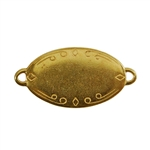 Gold Plate Shape - Oval Connector - 28.5mm x 17.5mm