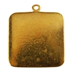 Gold Plate Shape - Square Pendant - 25mm Pkg - 2