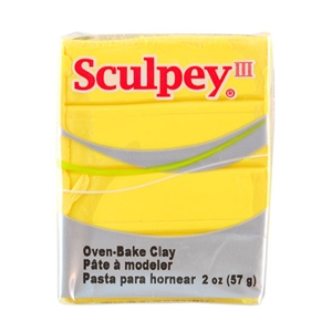 Sculpey III Polymer Clay - Yellow 2 oz block