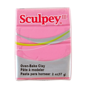 Sculpey III Polymer Clay - Dusty Rose 2 oz block
