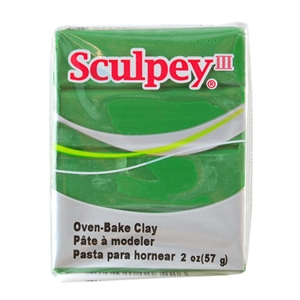 Sculpey III Polymer Clay - Leaf Green 2 oz block