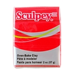 Sculpey III Polymer Clay - Red Hot Red 2 oz block