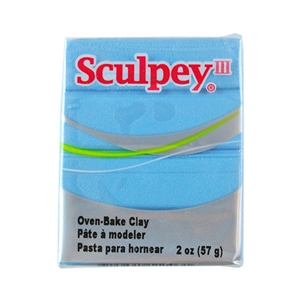 Sculpey III Polymer Clay - Light Blue Pearl 2 oz block