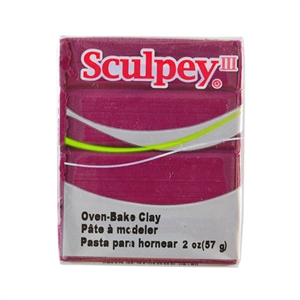 Sculpey III Polymer Clay - Plum 2 oz block
