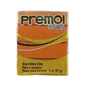 Premo Sculpey Polymer Clay - Raw Sienna 2 oz block