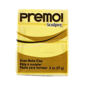 Premo Sculpey Polymer Clay - Sunshine 2 oz block