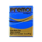 Premo Accent Sculpey Polymer Clay - Cobalt Blue 2 oz block