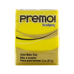Premo Sculpey Polymer Clay - Zinc Yellow 2 oz block