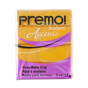 Premo Accent Sculpey Polymer Clay - Gold 2 oz block