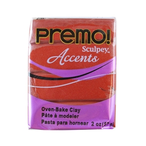 Premo Accent Sculpey Polymer Clay - Bronze 2 oz block